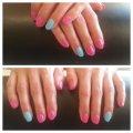 Vrolijke kleurtjes Gel polish op eigen nagels